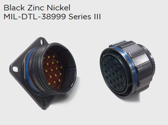 Black Zinc Nickel 38999 series III