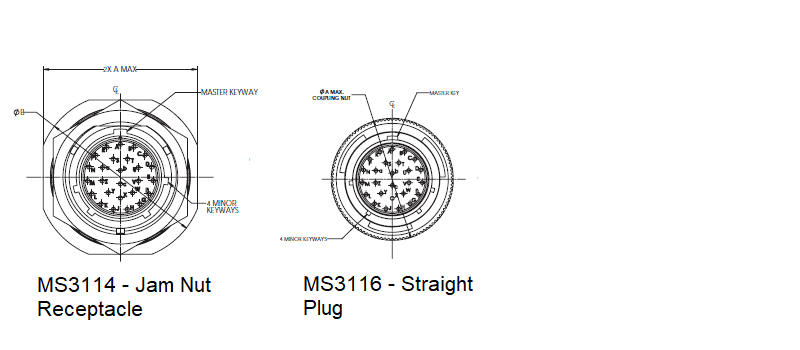 26482 Series 1 Shell Style Options Line Drawings MS3114 MS3116