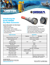 Elite Series Dry Mate Subsea connector